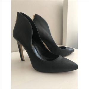 BCBGeneration Black Court Shoes with Zip detail